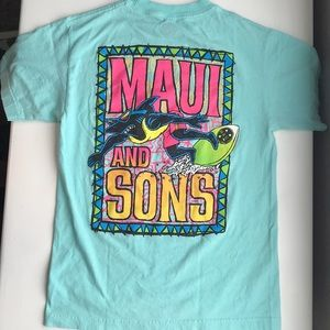 Blue Maui and Sons shirt
